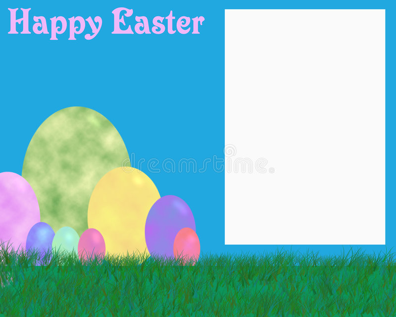 Happy easter photo frame royalty free stock photo
