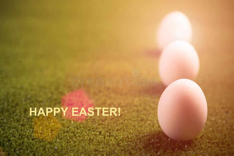 Happy easter postcard royalty free stock photos