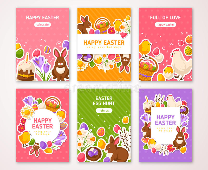 Happy easter poster banner greeting card stock vector download happy easter poster banner greeting card stock vector illustration of decorative m4hsunfo
