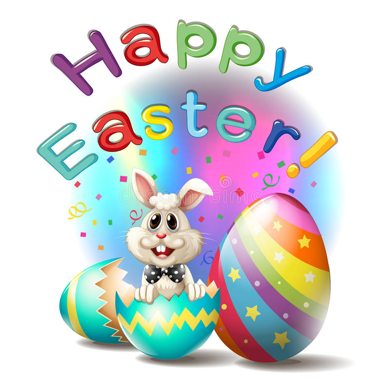 A happy easter poster stock illustration