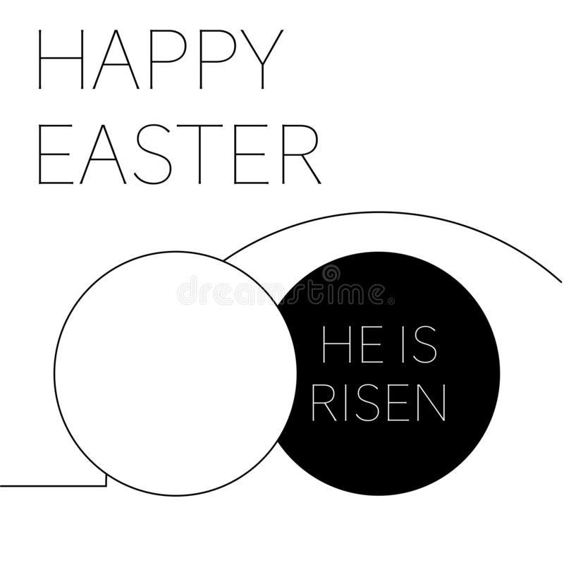 Happy easter he is risen empty grave royalty free illustration