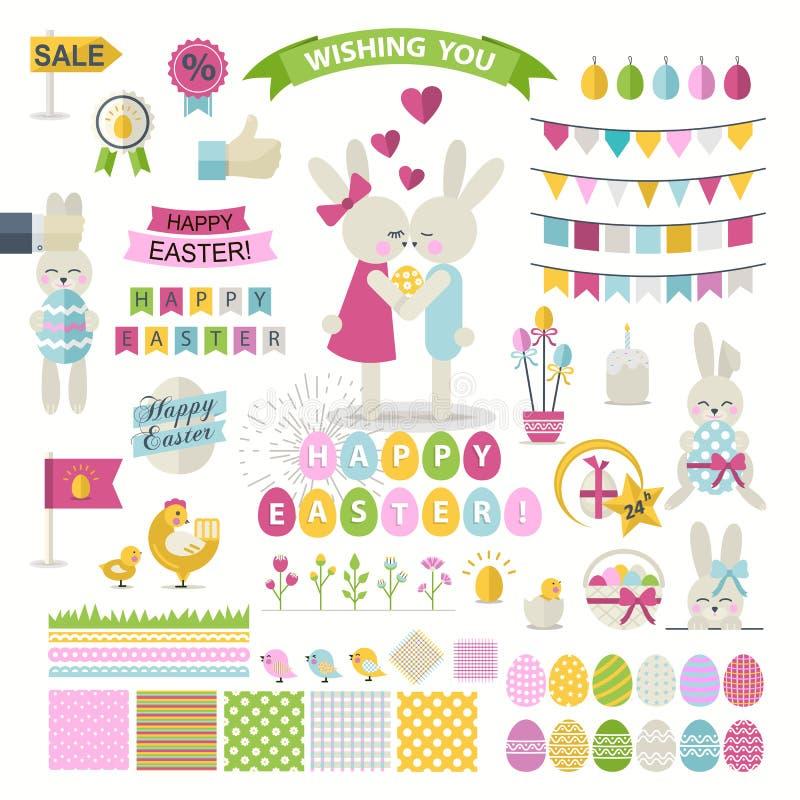 Happy Easter Set vector illustration