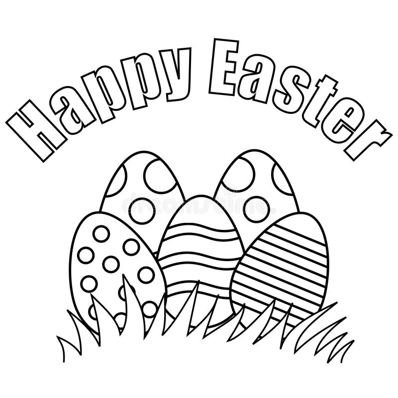 Happy Easter stock vector. Illustration of child, black ...