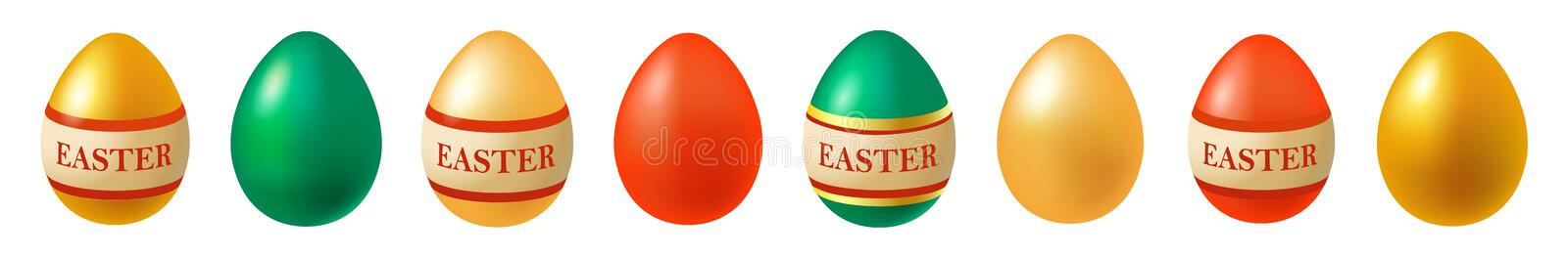 Happy Easter. Set of Easter eggs. Spring holiday. Vector illustration of Easter eggs collection on a white background. Vector illustration of Easter eggs vector illustration