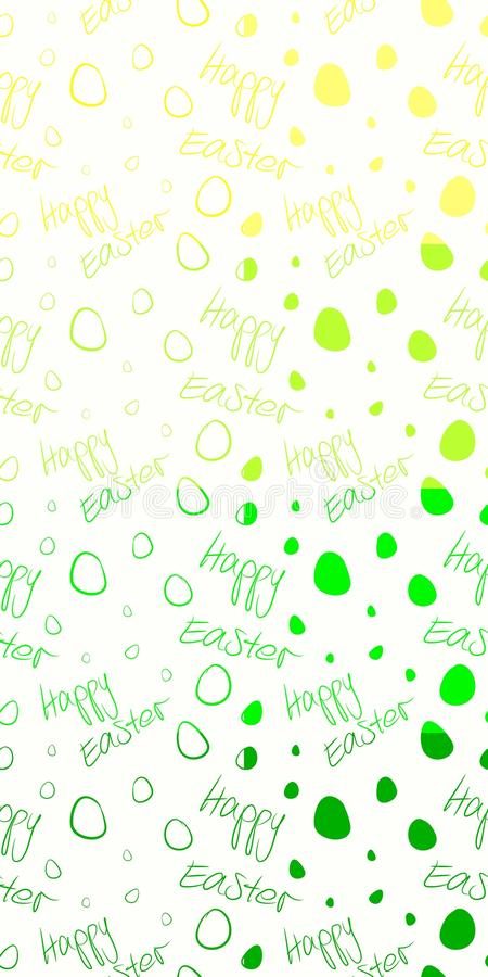 Happy Easter - Set of 8 seamless tileable vector patterns. Green, lime, yellow on white. royalty free stock image