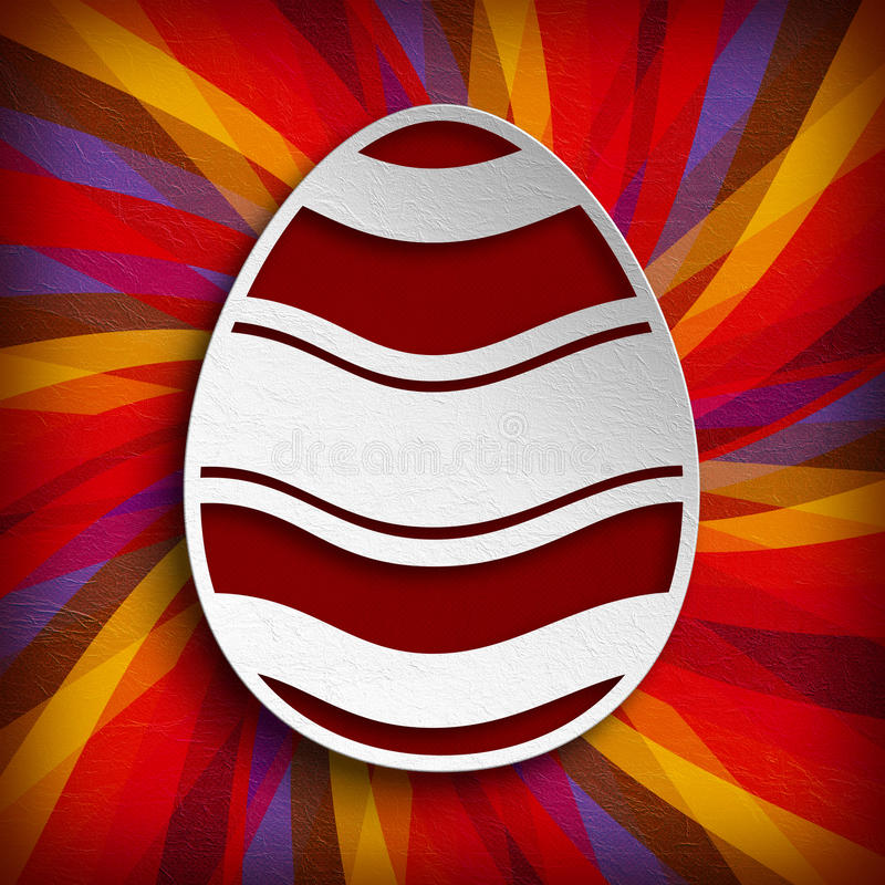 Happy Easter - Shape of egg stock illustration