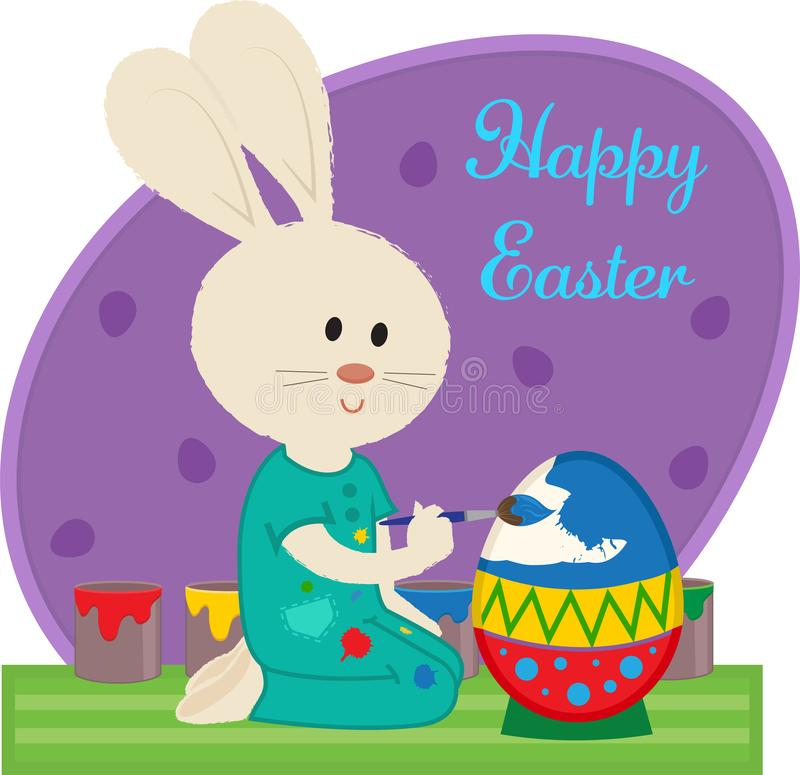 Easter Bunny Greeting royalty free stock images