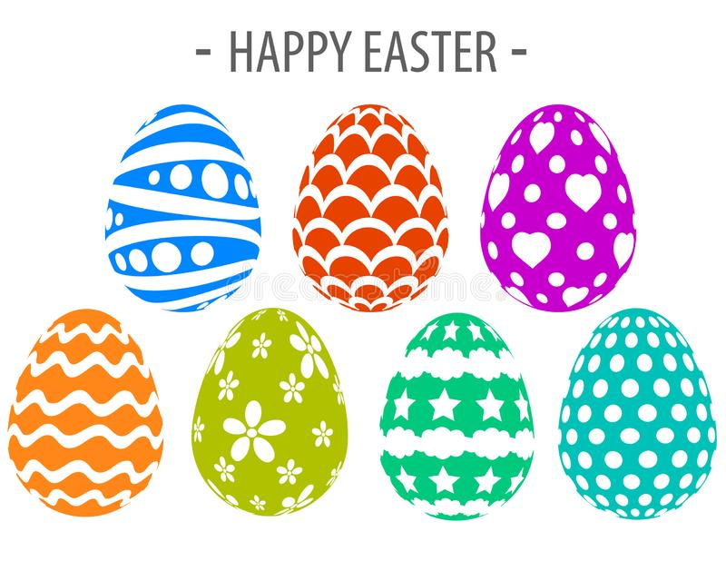 Happy easter silhouette paint eggs creative design vector illustration
