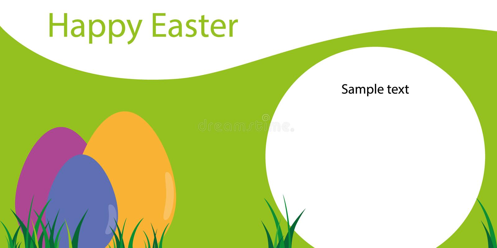 happy easter template