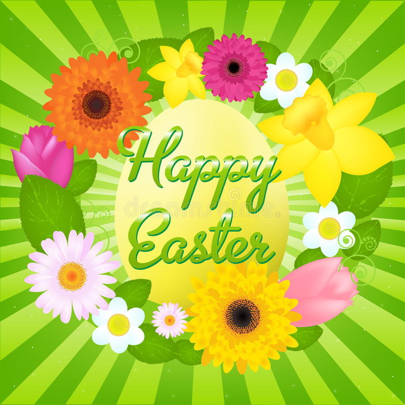 Happy Easter. Vector. Happy Easter Greeting Card, Vector Illustration stock illustration