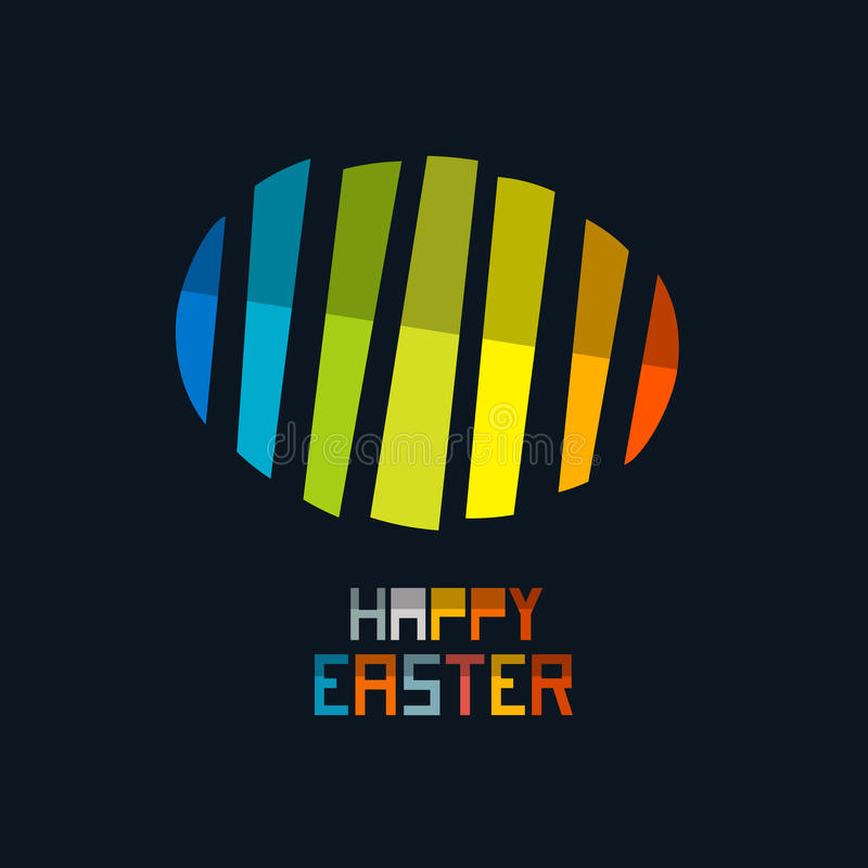 Free Happy Easter Vector Colorful Abstract Egg Symbol Stock Photo - 47809890
