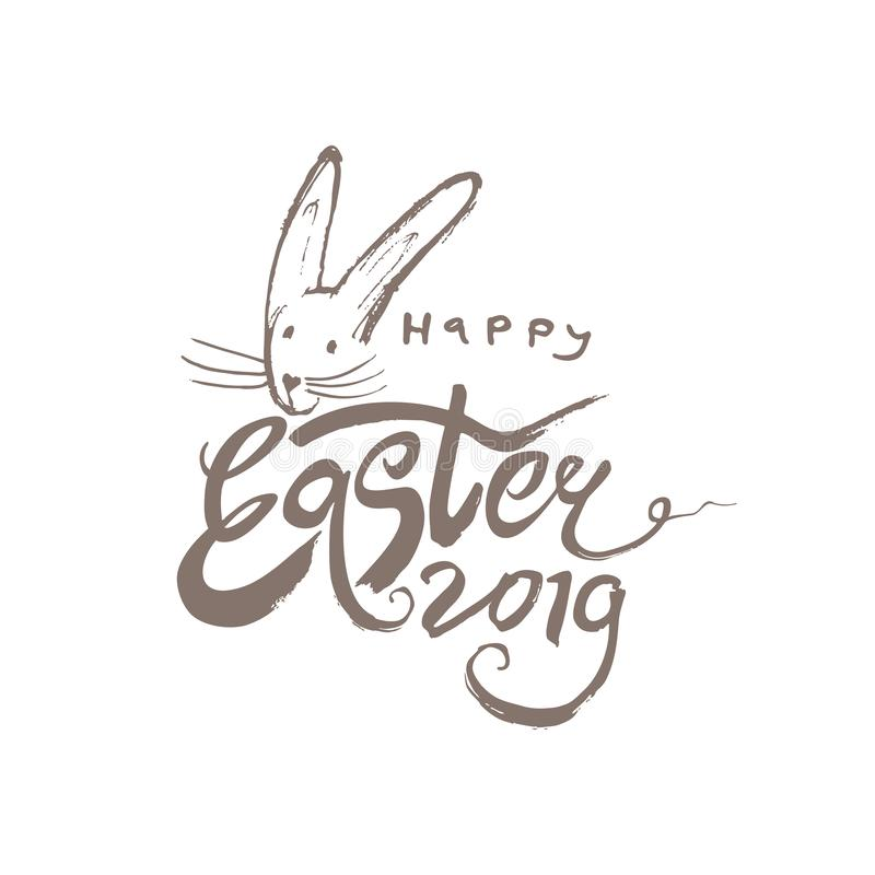 Happy Easter 2019. royalty free illustration