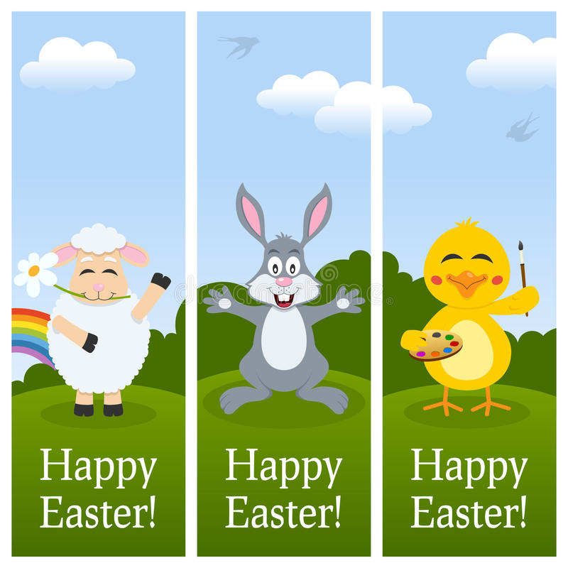 Download Happy Easter Vertical Banners Stock Vector - Image: 39300308
