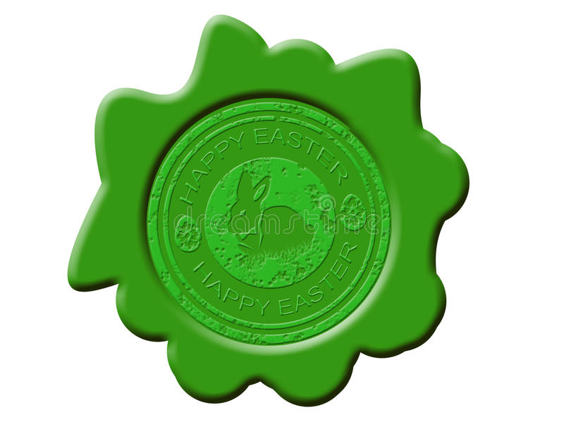 Download Happy easter wax seal stock vector. Illustration of springtime - 19073453