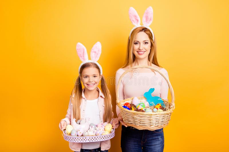 Happy Easter! Where is my chocolate bunny? Excited cute lovely t stock photos
