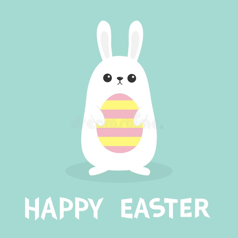 Happy easter white bunny rabbit holding painted pattern egg funny download happy easter white bunny rabbit holding painted pattern egg funny head face m4hsunfo