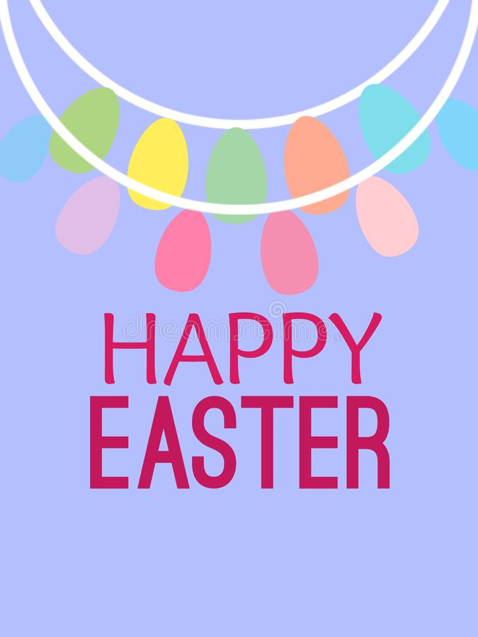 Happy Easter wishes greeting card on abstract background of square frame, graphic design illustration wallpaper stock illustration
