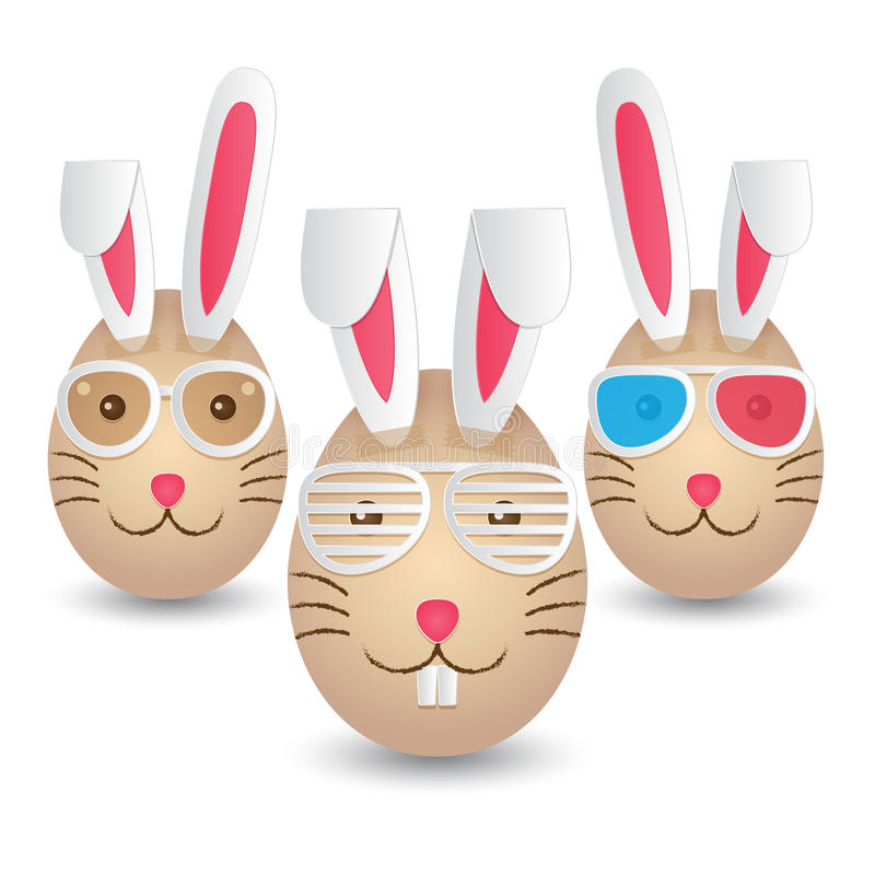 Happy Easter Eggs royalty free illustration