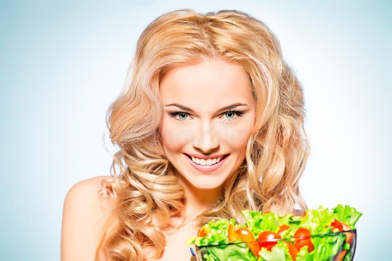 Happy eating stock photo