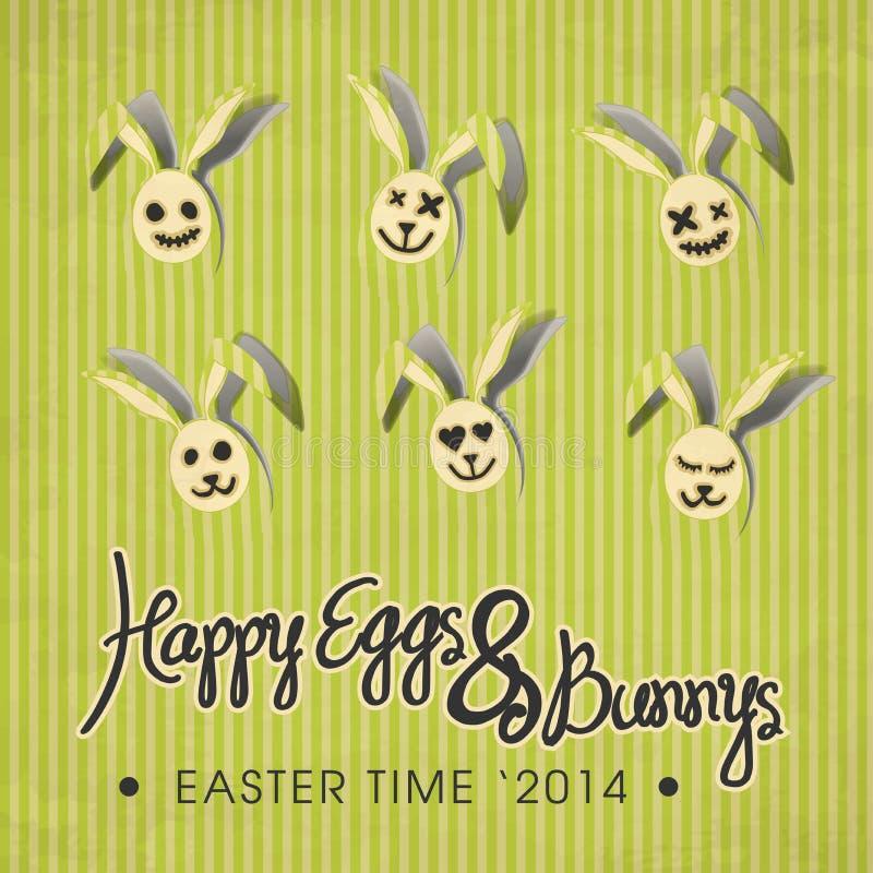 Happy Eggs & Bunny's illustration stock photography