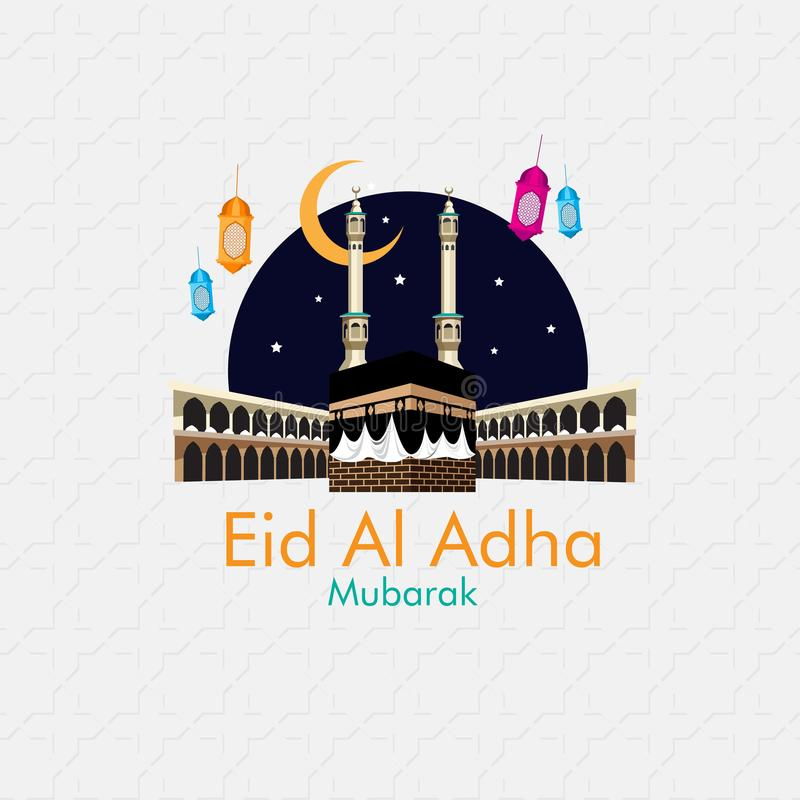 Happy Eid al adha mubarak royalty free illustration