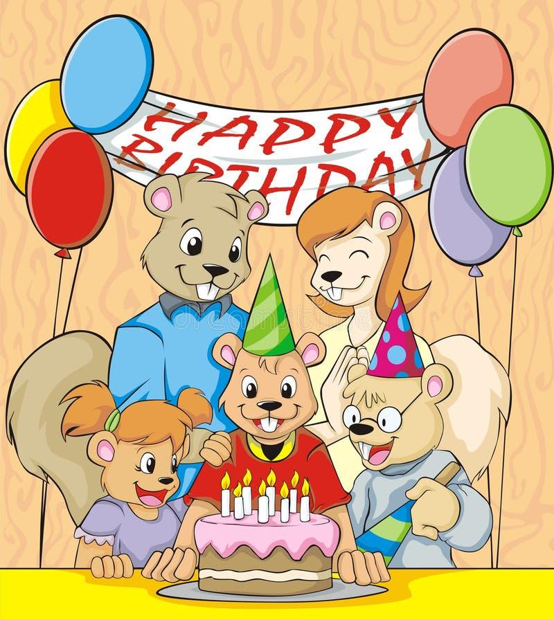 Download Happy Eighth Birthday stock illustration. Illustration of kids - 7880650