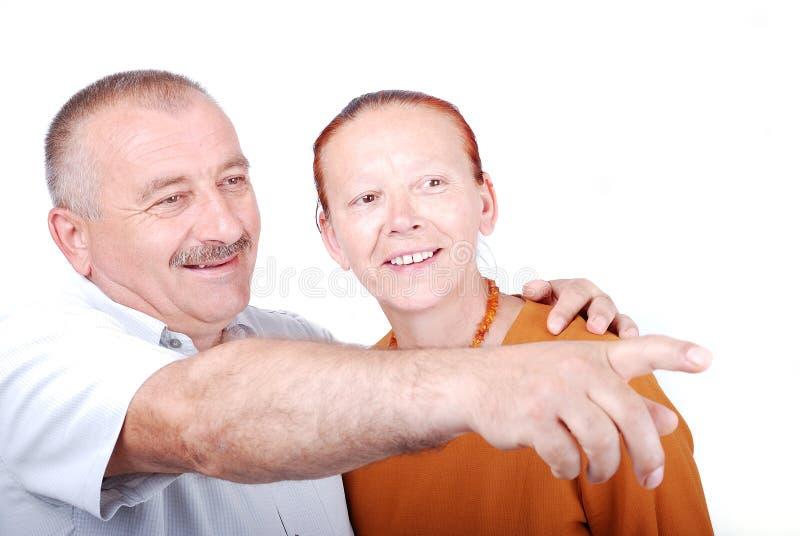 A happy elderly couple royalty free stock image