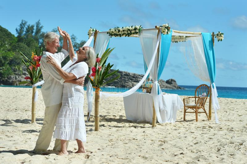 Download Happy Elderly Couple Dancing Stock Photo - Image of female, husband: 120388884