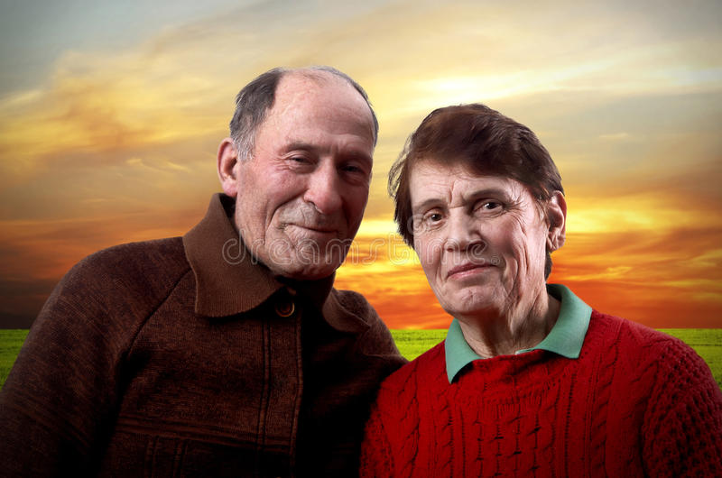 Happy Elderly Family Royalty Free Stock Image