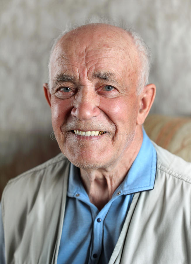 Happy Elderly Man stock photography