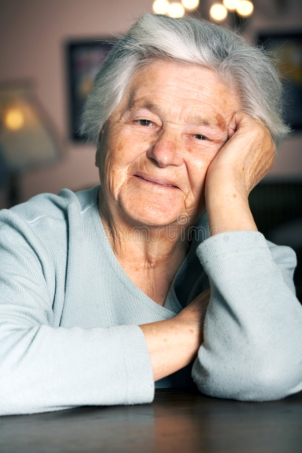 Happy elderly woman royalty free stock images