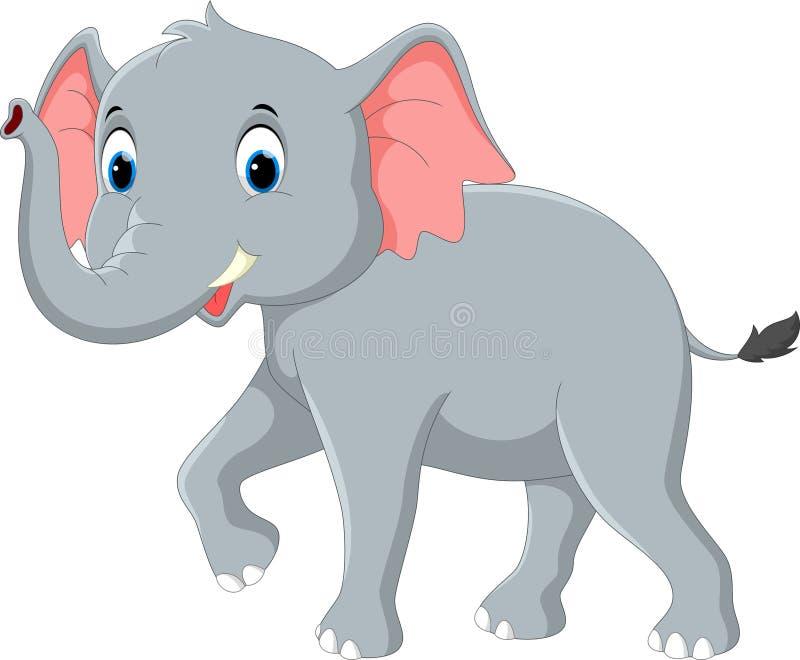 Happy elephant cartoon stock illustration