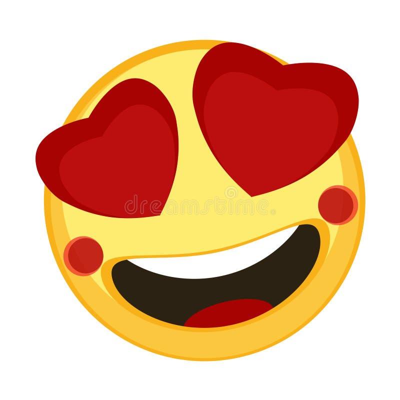 Happy emoji lovely stock illustration