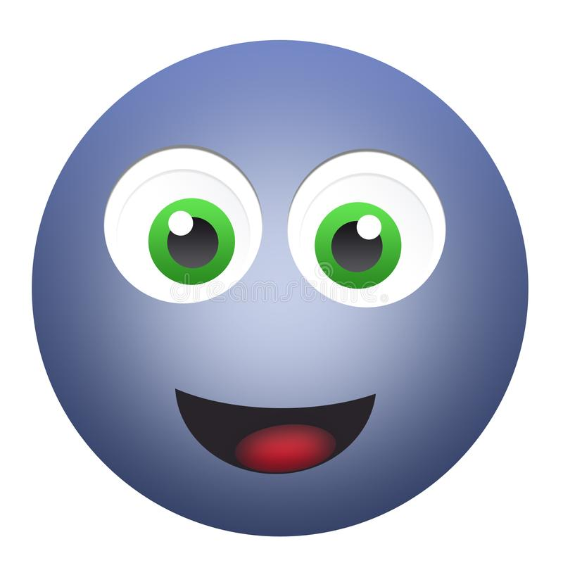 Happy emoticon face royalty free stock photos