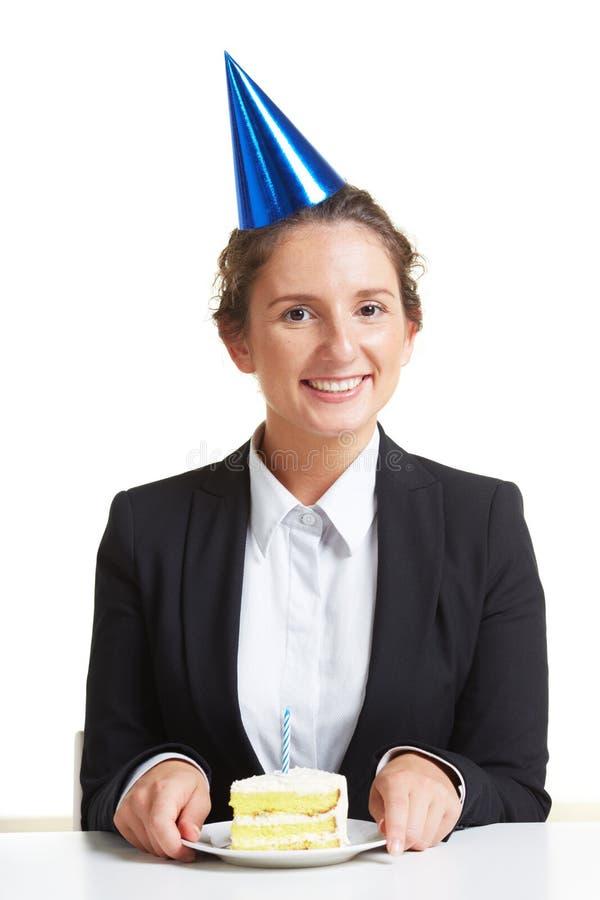 Happy employee royalty free stock photo