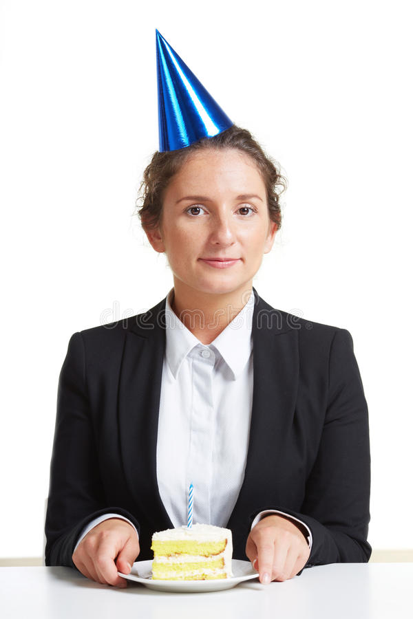Happy employee royalty free stock photos