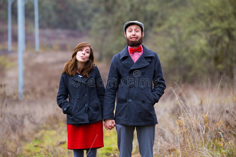Happy Engaged Couple Portrait royalty free stock images