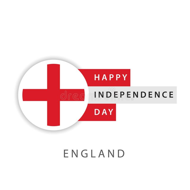 Happy England Independence Day Vector Template Design Illustrator stock illustration