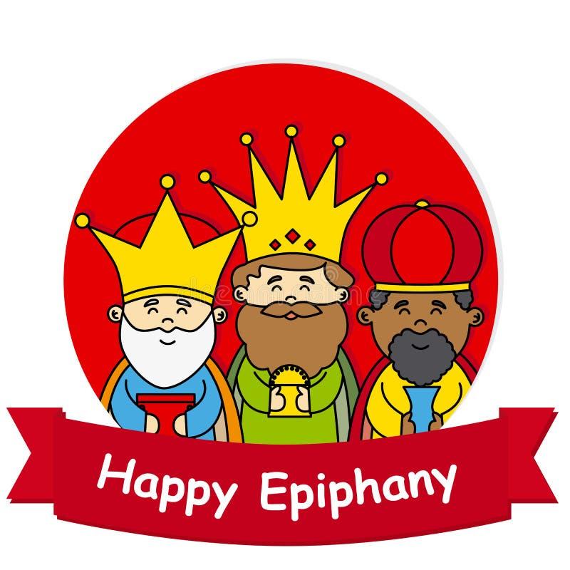 Happy epiphany. The three wise men vector illustration