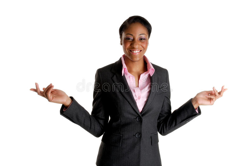 Happy and excited business woman royalty free stock photo