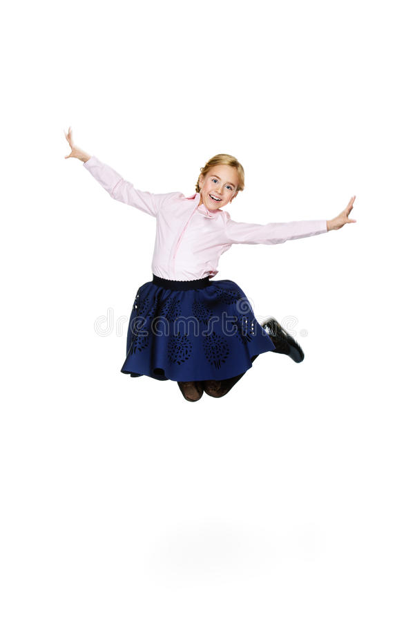 Happy excited child royalty free stock photography