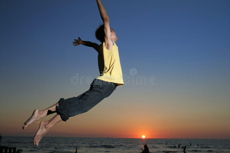Happy exciting man stock image