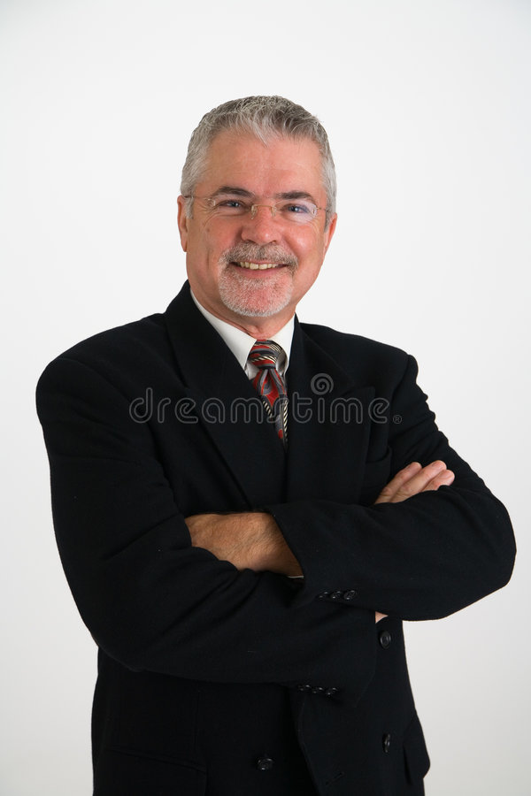 Happy executive stock image