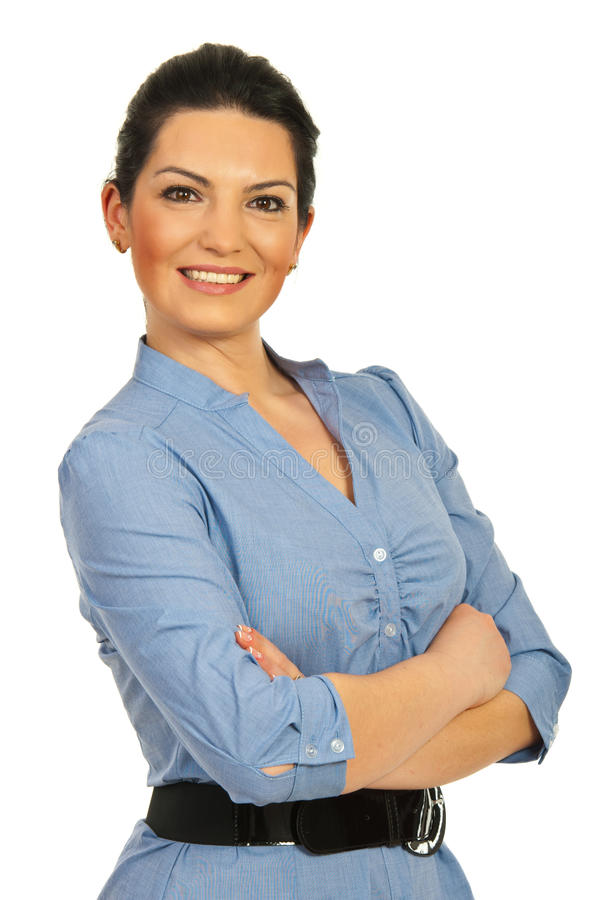 Happy executive woman stock photo