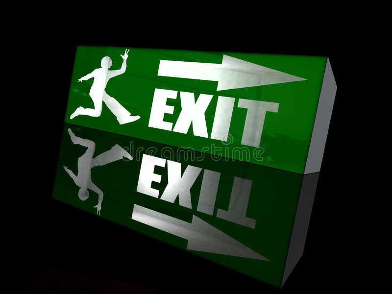 Download Happy exit stock illustration. Image of fled, background - 5421677