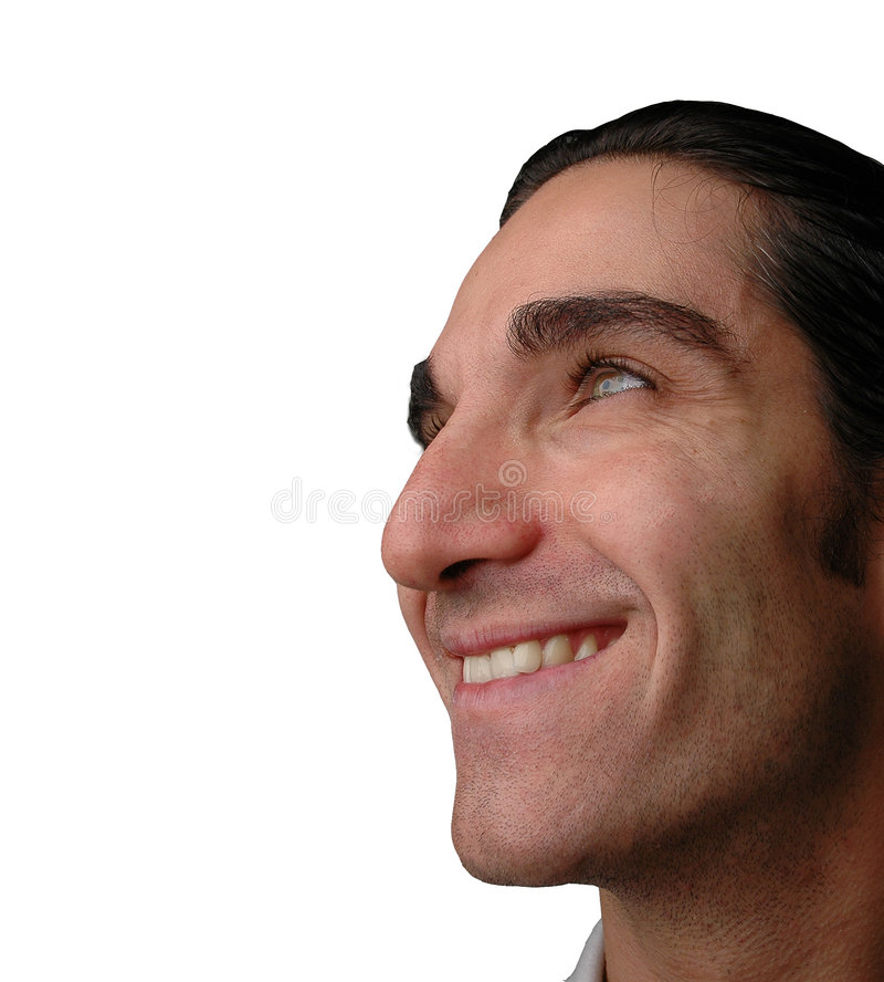 Happy expression stock image