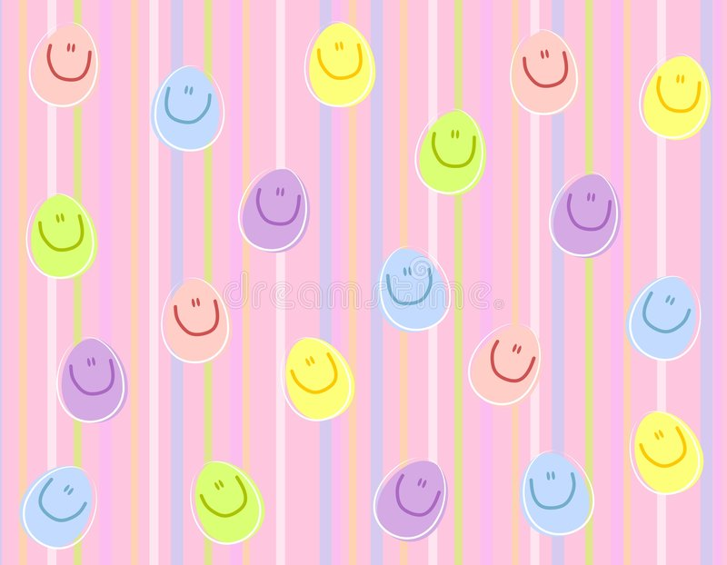 Download Happy Face Easter Eggs Background Stock Illustration - Image: 4026214