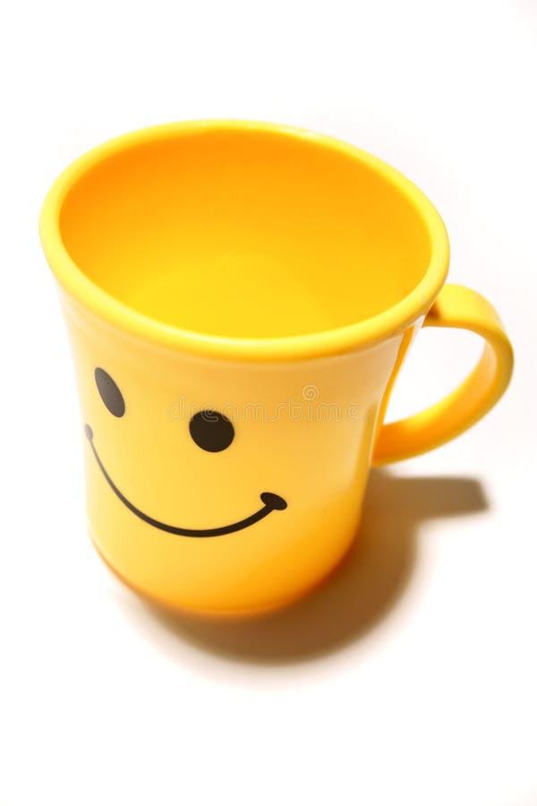 Happy face mug stock image