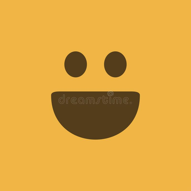 Happy face vector illustration icon smile element yellow color royalty free illustration