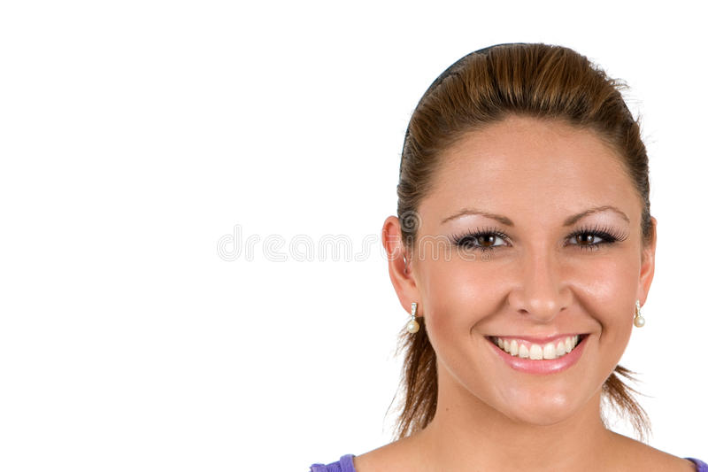 Happy Faced Woman royalty free stock images